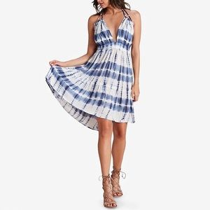 Raviya Tie Dyed Short Halter Cover-up Dress L